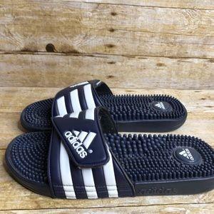 Adidas Blue White Slides Shower Shoes Sandal